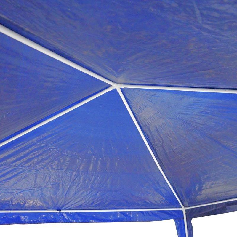 Tenda Gazebo Desmontável 3x3 m Barraca Praia Camping Azul com Bolsa Importway IWGZM-3AZ