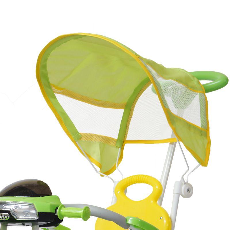 Triciclo Motoca Infantil Passeio com Empurrador Pedal Luz Som Capota Importway BW-003 Verde