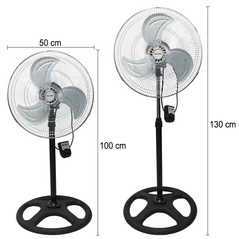 Ventilador Coluna Mesa Parede Silencioso 3 Velocidades Importway 110V 50cm  - BEST SALE SHOP