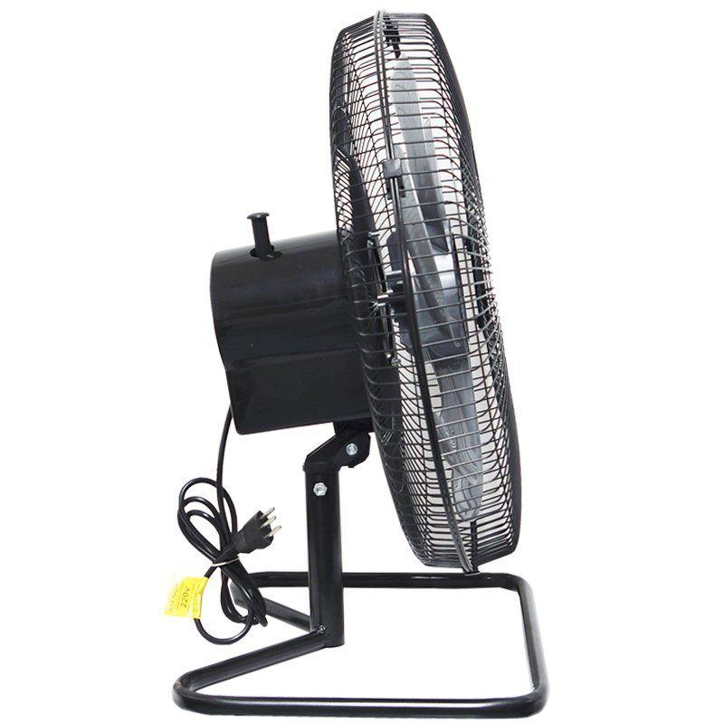 Ventilador Mesa Chão 50cm 220V 200W Industrial Turbo Turbão 6 Pás Vitalex OM50FP220 Preto