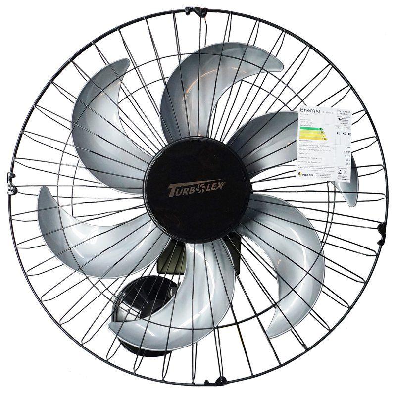 Ventilador Parede 50cm 220V 200W Industrial Turbo Turbão 6 Pás Grade 40 Fios Vitalex OP50AP220 Preto