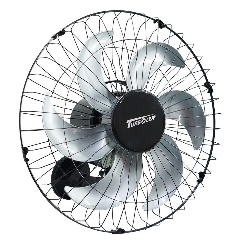 Ventilador Parede 50cm Industrial Turbo Turbão 6 Pás Grade 40 Fios GA Vitalex Preto