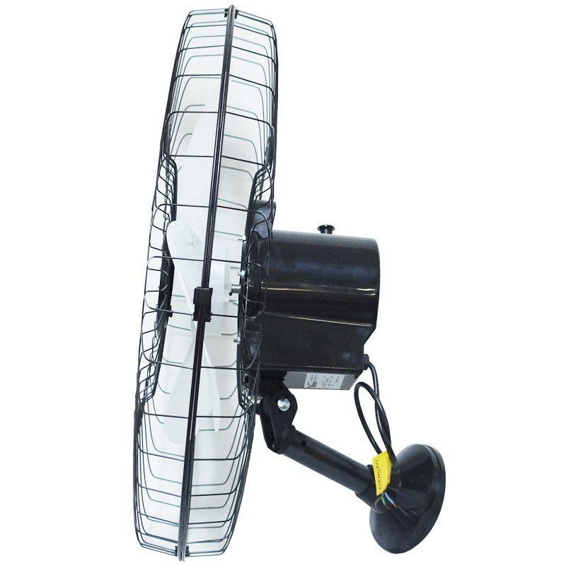 Ventilador Parede 60cm 220V 200W Industrial Turbo Turbão 3 Pás Grade 40 Fios GA Vitalex Preto