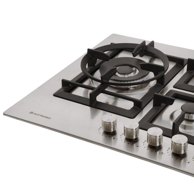 Cooktop a Gás 5 Queimadores Inox 75 cm Quadratto CKG-5Q-75-XQ-3ZEA Elettromec