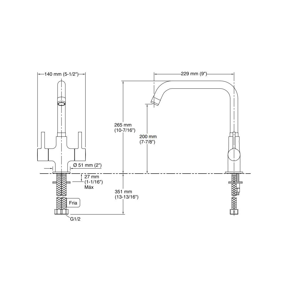 Misturador de Bancada Cuff 37316BR-4-CP Kohler