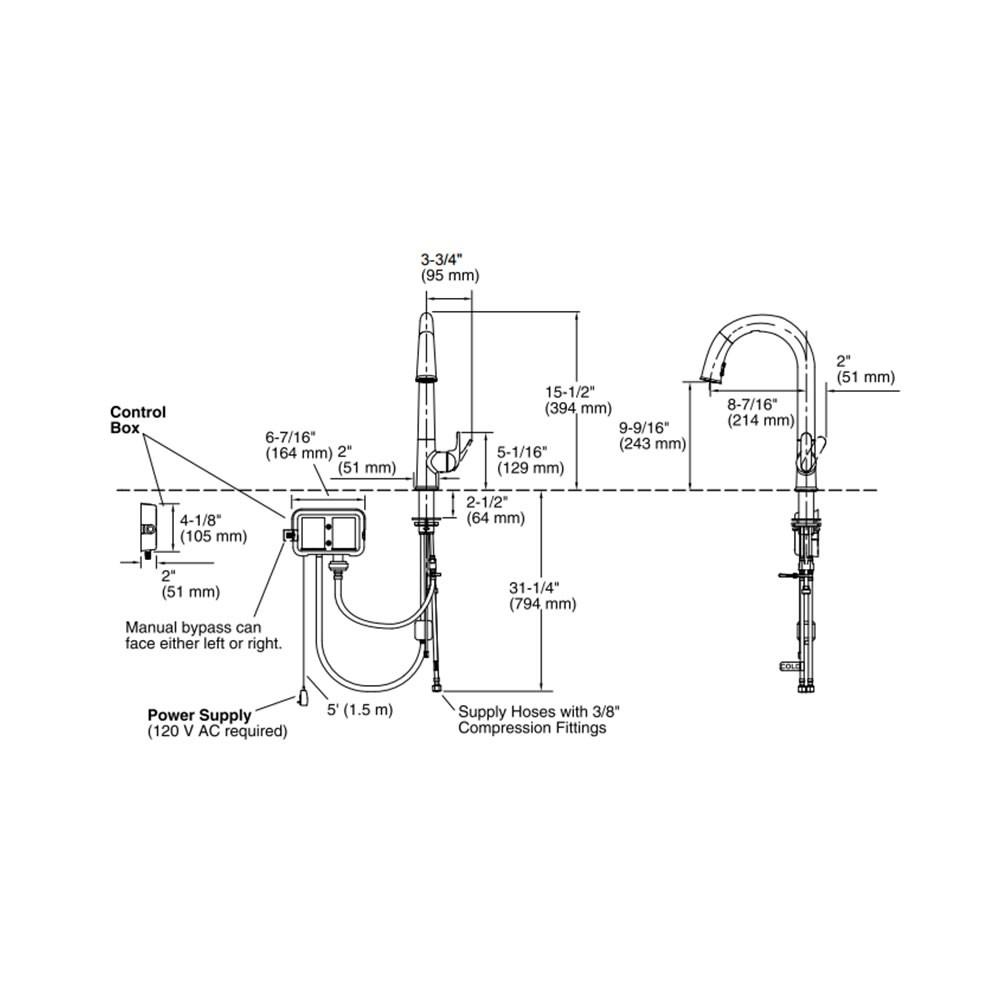 Misturador Monocomando de Bancada Sensate 72218BR-B7 Kohler
