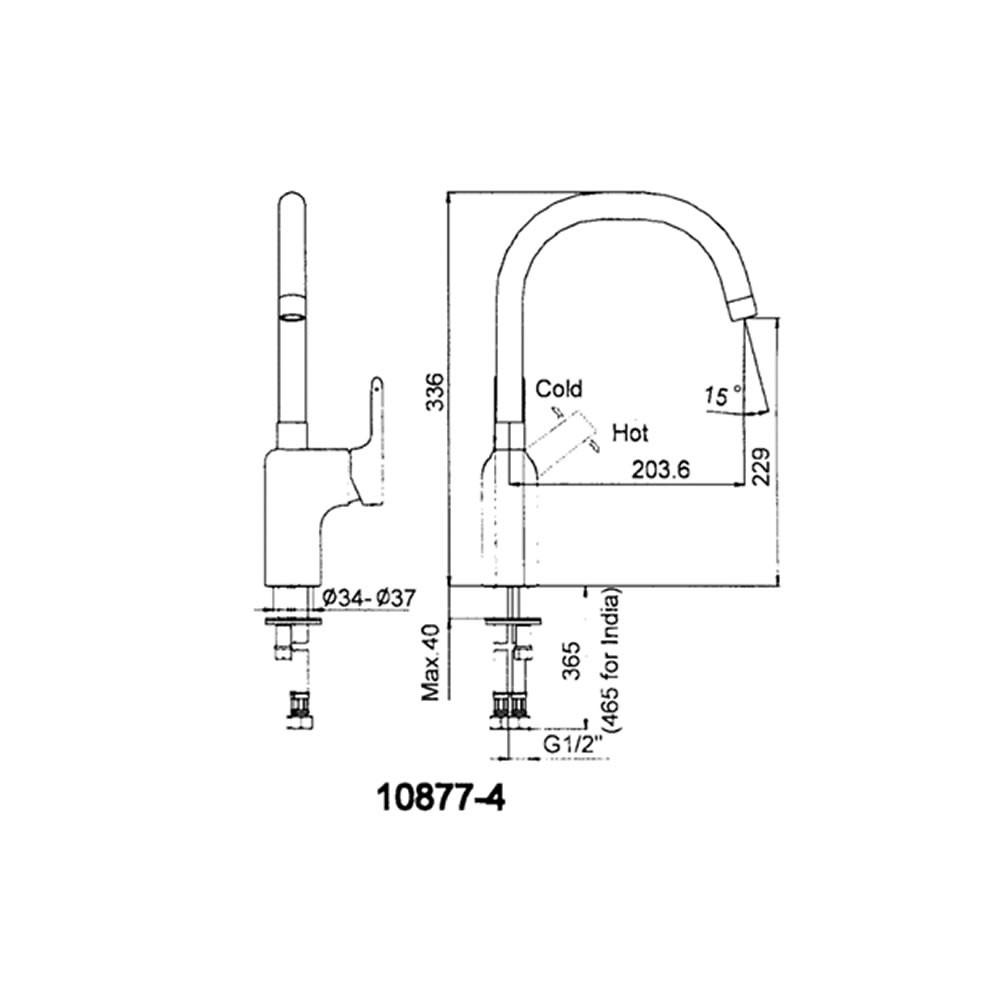 Misturador Monocomando de Bancada Singulier 10877BR-B4-CP Kohler