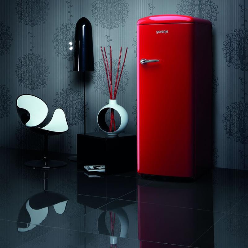 Refrigerador 260 L Instalação Livre Retro Collection ORB152RD Gorenje ION Generation