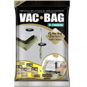 Conjunto Saco a Vacuo com 4 unid. Médio + Bomba - Vac Bag