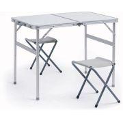 Conjunto Mesa Domo com 2 cadeiras Dobráveis - Nautika