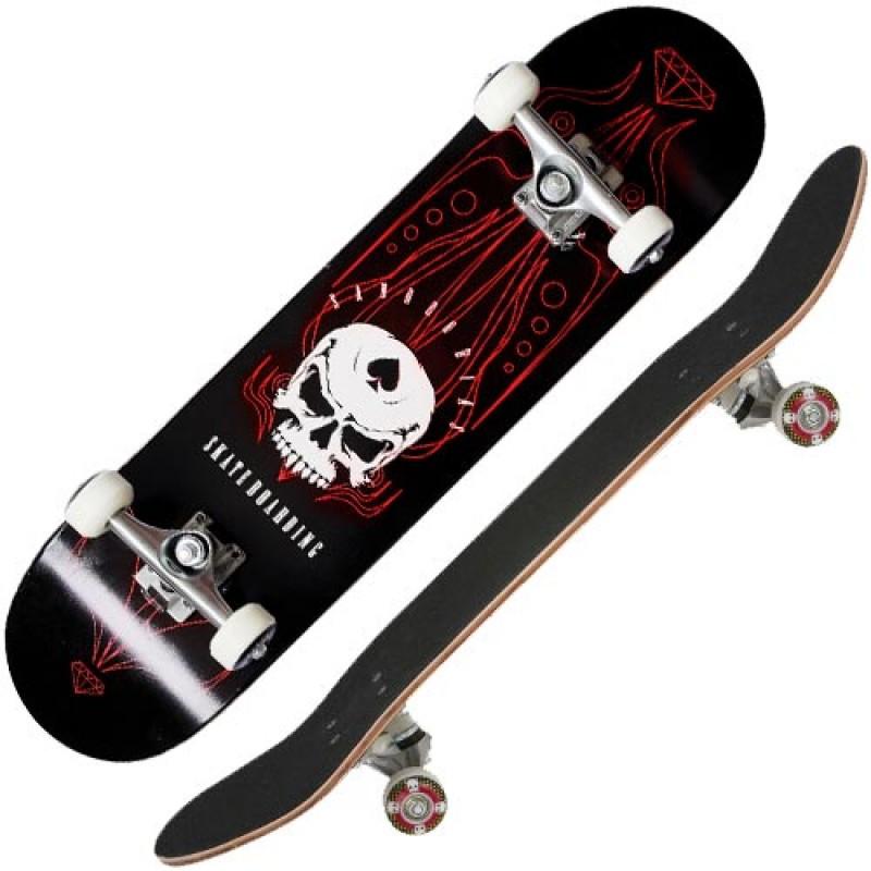 Skate Completo Profissional Sandro Dias Mineirinho Abec5 90a Preto