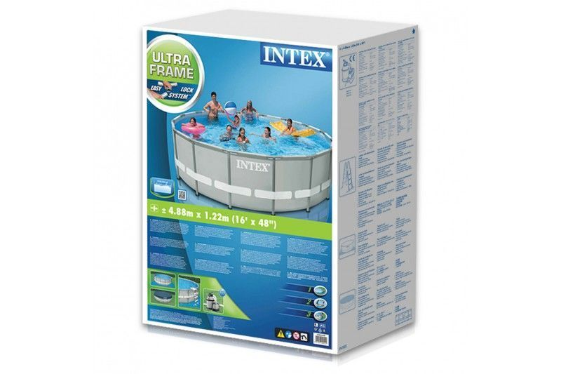 Piscina Estrutural Ultra Frame 19.156 Litros Completa Intex