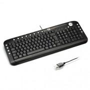 Teclado Multimidia USB SLIM C3 TECH KB2202-2  BK Preto