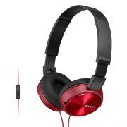 Fone de Ouvido Estereo com Microfone MDR-ZX310AP Vermelho SONY