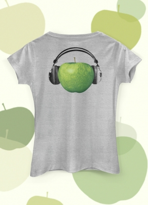 Camiseta Feminina The Beatles Logo Apple Fone