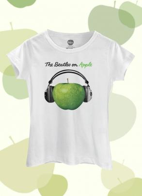 Camiseta Feminina The Beatles On Apple Fone