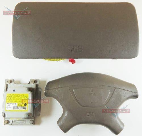 Kit Air Bag Bolsas E Modulo P Mitsubishi Pajero Sport 2001  - Gabisa Online Com Imp Exp de Peças Ltda - ME