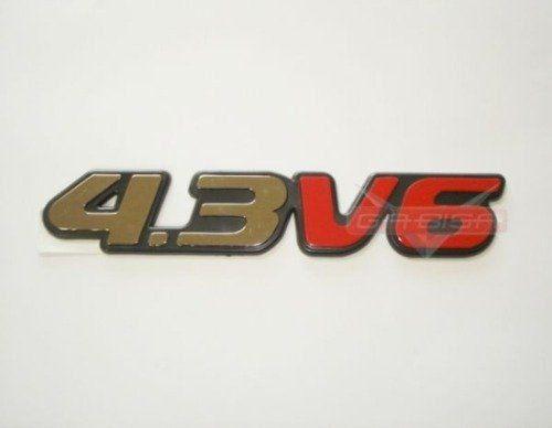 Logotipo Emblema Simbolo 4.3 V6 P Gm S10 E Blazer 96 00  - Gabisa Online Com Imp Exp de Peças Ltda - ME
