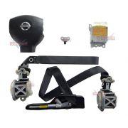 Kit Air Bag Simples Tiida 012 013 Bolsa Modulo Cintos Nissan