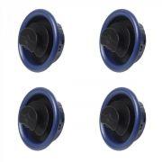 Gm Celta Prisma 01 06 Kit 4 Telas Difusor De Ar Azul