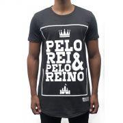 Camiseta Pelo Rei e Pelo Reino Masculina - #REINODEPONTACABEÇA