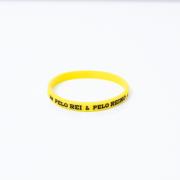 Pulseira Fina - Pelo Rei & Pelo Reino - Amarela