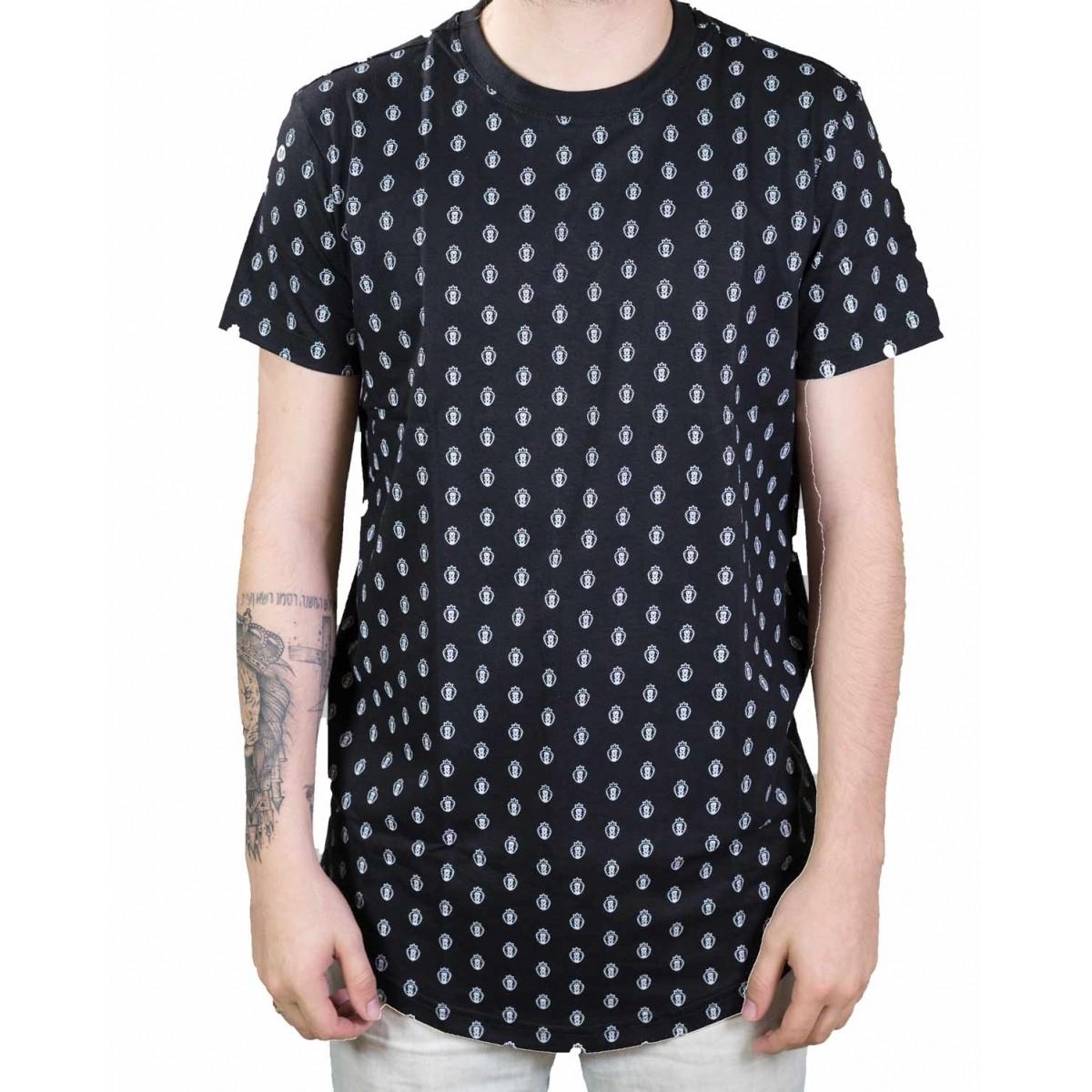 Camiseta Cordeiro e Leão-Masculina (Pattern)  - Jesuscopy