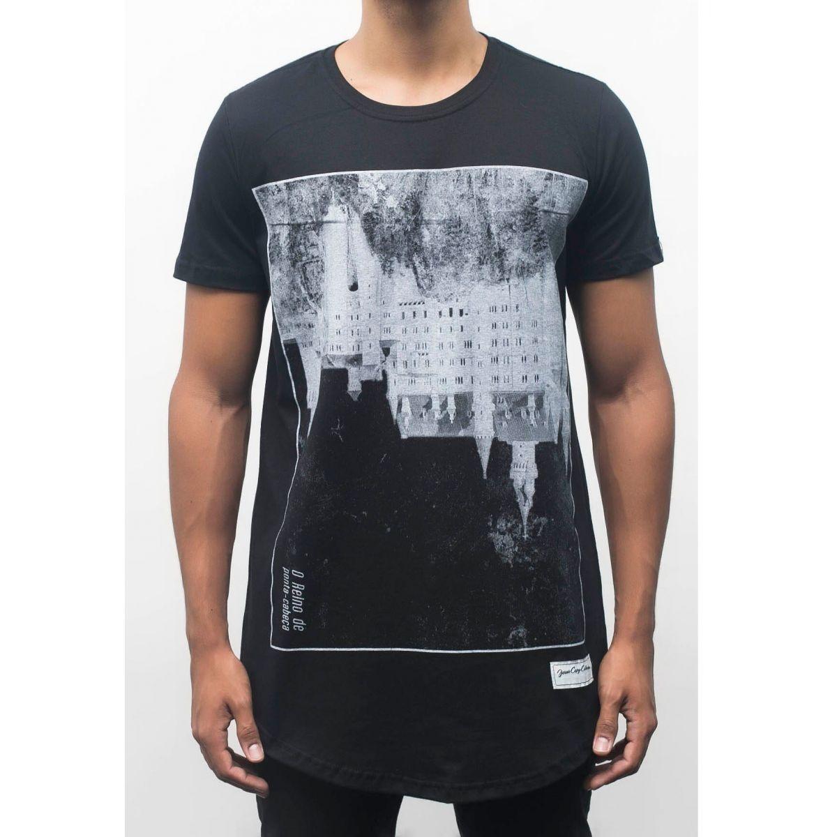Camiseta  Upside Down Castle Masculina - #REINODEPONTACABEÇA  - Jesuscopy