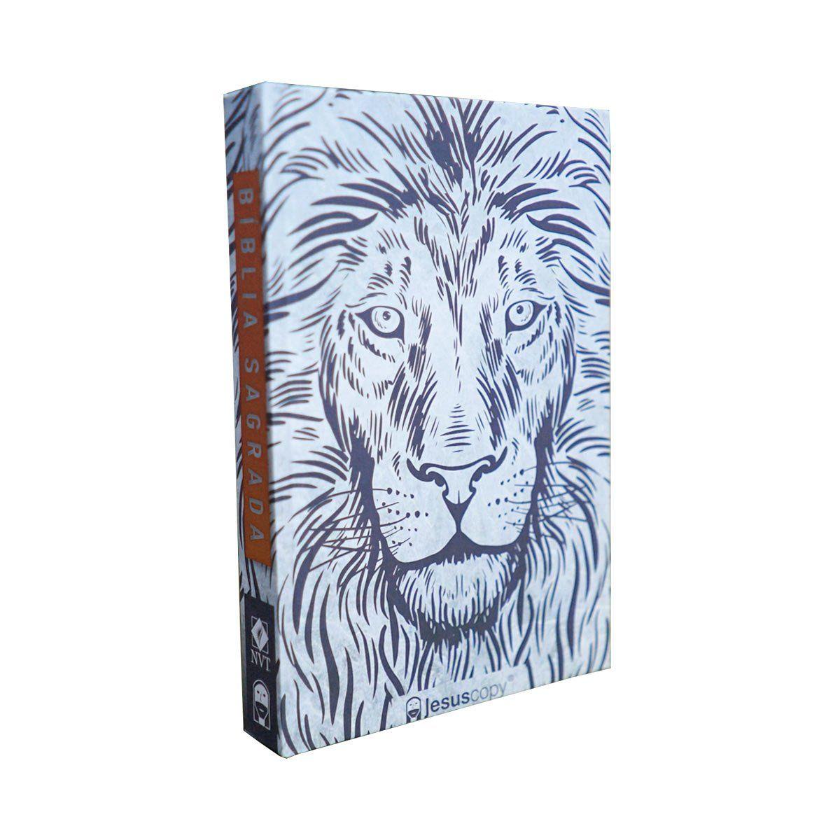 Bíblia Jesuscopy Leão Branco - Capa dura   - Jesuscopy