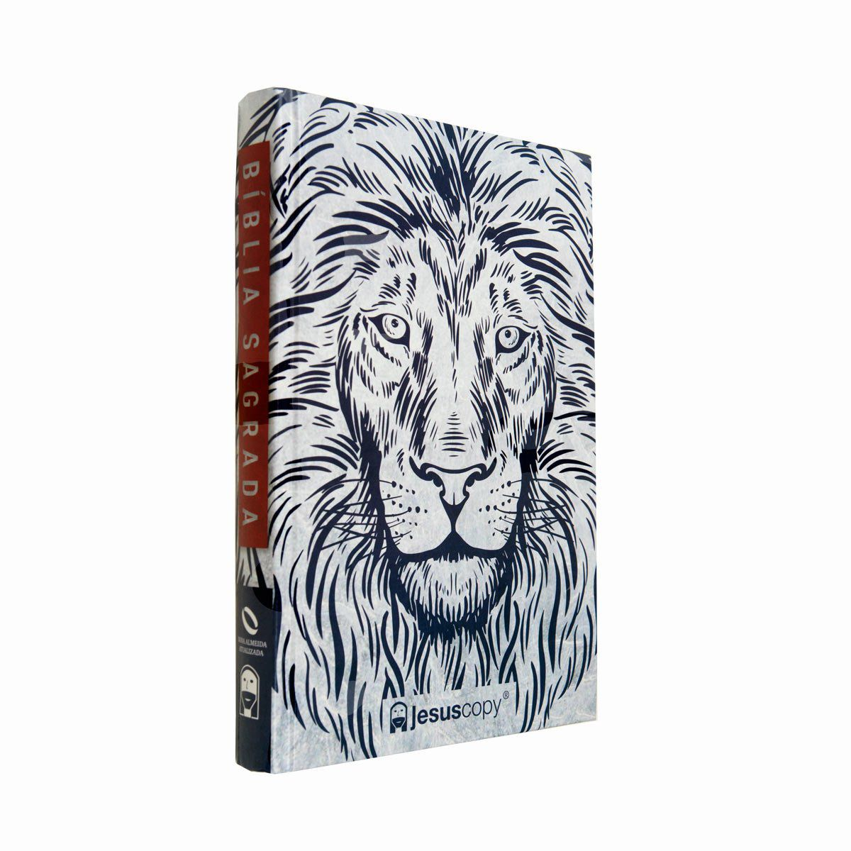 Bíblia Jesuscopy Leão Branco - Capa dura - NAA  - Jesuscopy