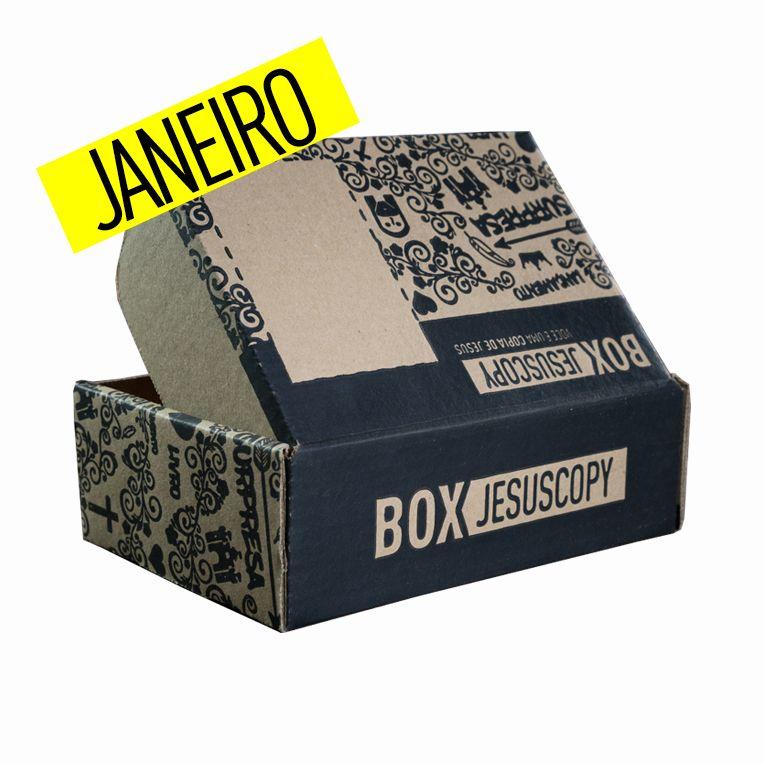 Box dos meses anteriores - JANEIRO  - Jesuscopy