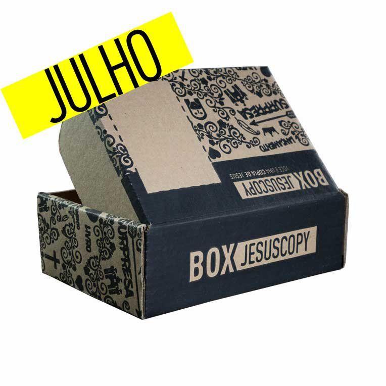 Box dos meses anteriores - JULHO 2018   - Jesuscopy