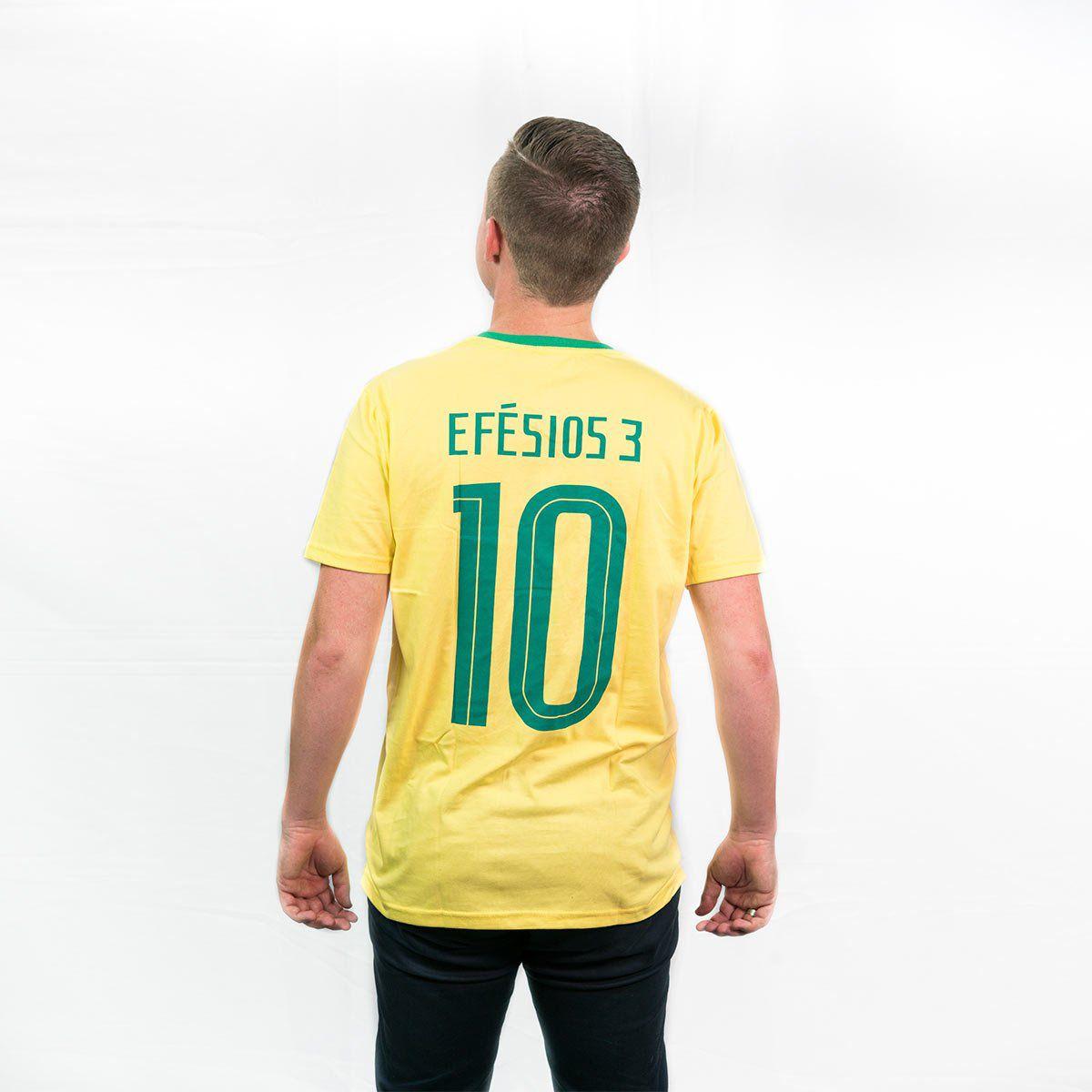 Camiseta Brasil Amarela  - Jesuscopy