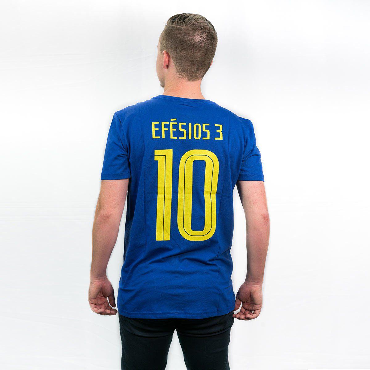Camiseta Brasil Azul  - Jesuscopy