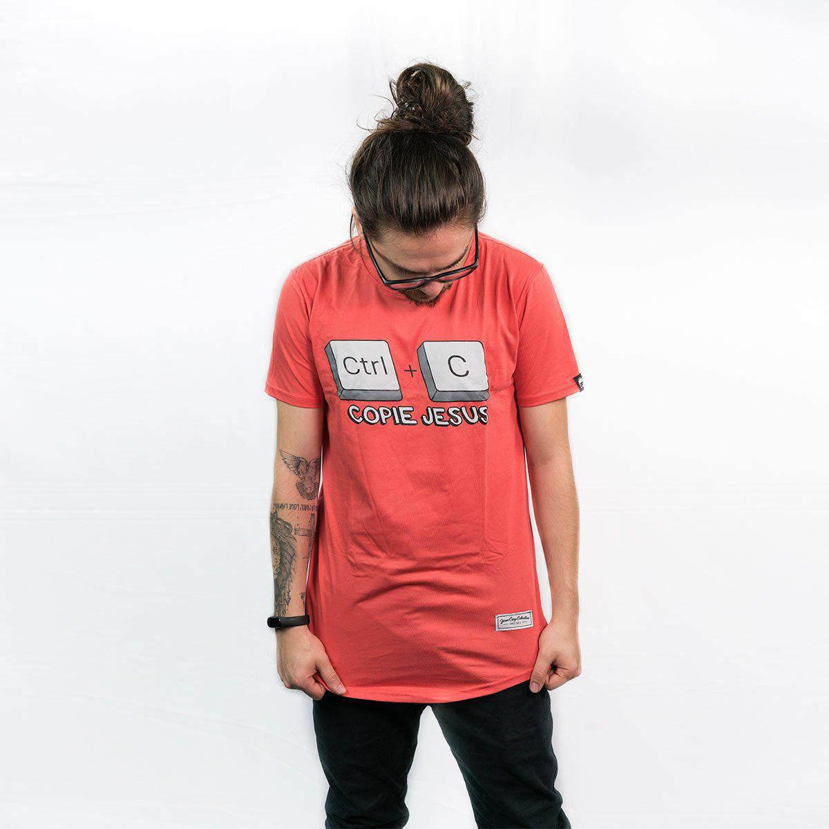 Camiseta  Ctrl+C  Jesus Masc.  - Jesuscopy
