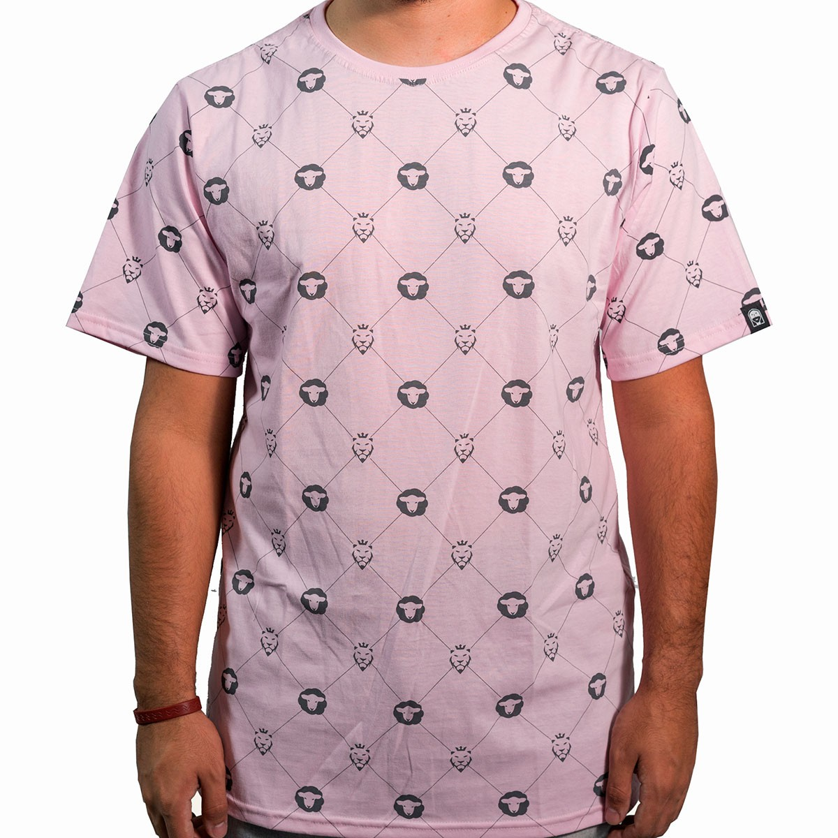 Camiseta Pattern Rosa Masculina - #REINODEPONTACABEÇA  - Jesuscopy