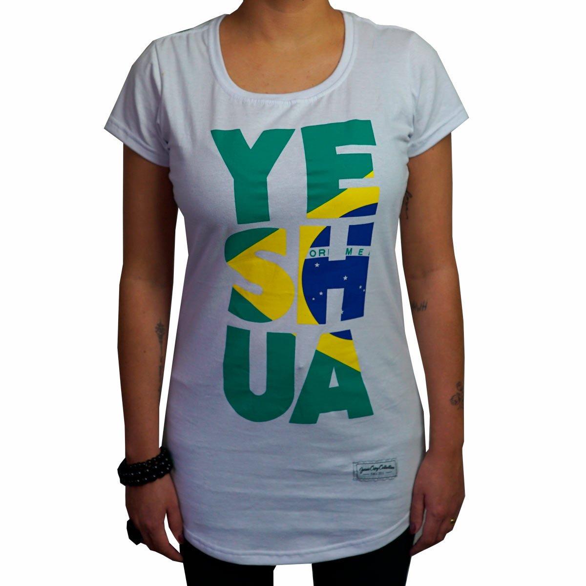 Camiseta Yeshua Brasil Fem.   - Jesuscopy