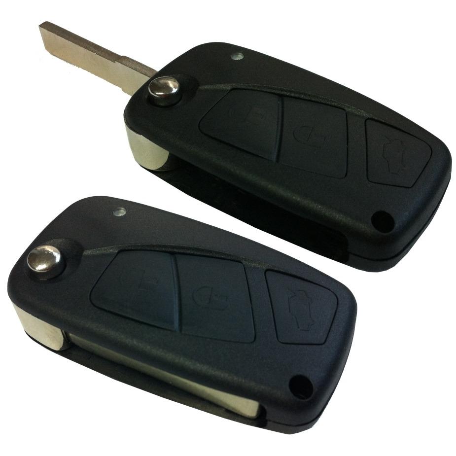 Chave Canivete Fiat Stilo + Placa Alarme Positron + Lamina Palio Siena Strada Punto Uno
