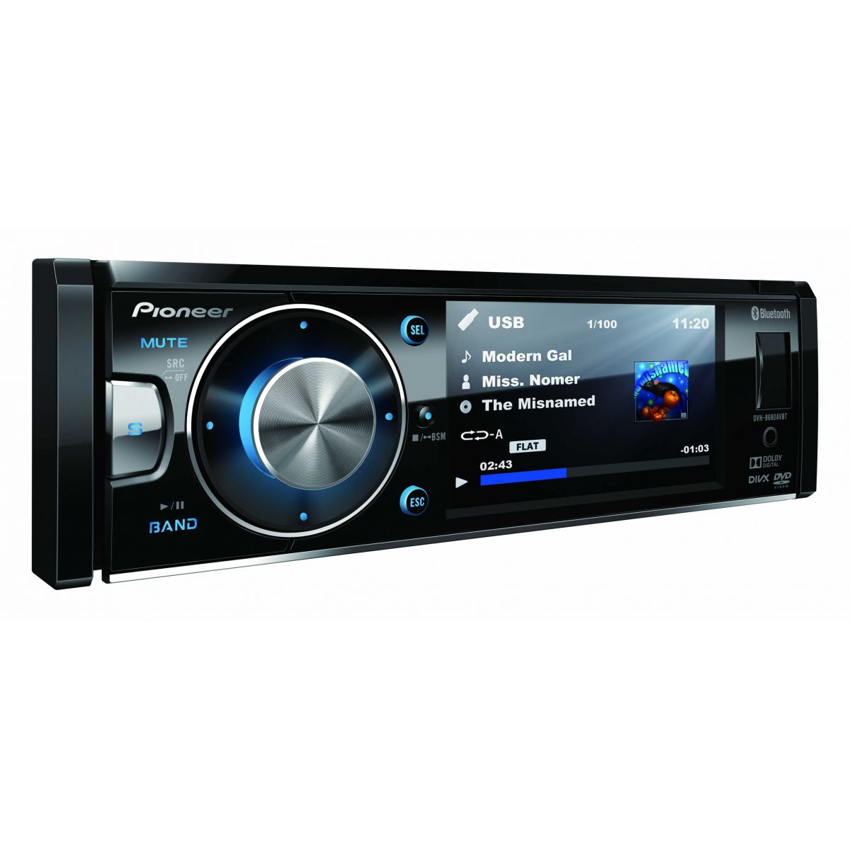 Dvd Player Automotivo Pioneer AVH-8680BT Bluetooth Usb 3,5 Polegadas Iphone / Android
