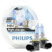 Kit Lampada Philips Crystal Vision HB4 9004 55w 12v + Par de Pingos - Efeito Xenon