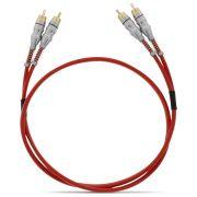 Cabo RCA JFA 1 Metro 4mm Vermelho Plug Banhado a Ouro