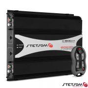 Módulo Amplificador Stetsom V600.4 600W + Controle Sx1 Grafite