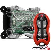 Sequenciador Longa Distância Stetsom SQ7 Receptor com Controle Vermelho