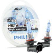 Kit Lampada Philips Crystal Vision HB3 9005 55w 12v + Par de Pingos - Efeito Xenon