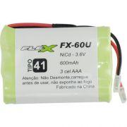 Bateria para Telefone sem Fio com 3 AAA 3,6V 600MAH Universal FX-60U FLEX