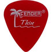 Palheta California Clear Fina Vermelha Fender