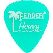 Palheta California Clear Grossa Verde Fender