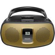 Radio Portatil com CD PLAYER/USB/MP3/FM/AM AZ392X/78 Preto e Dourado Philips