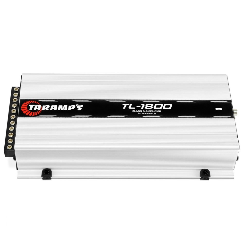 Módulo Amplificador Automotivo Digital Taramps TL1800 - 3 Canais - 530 Watts RMS