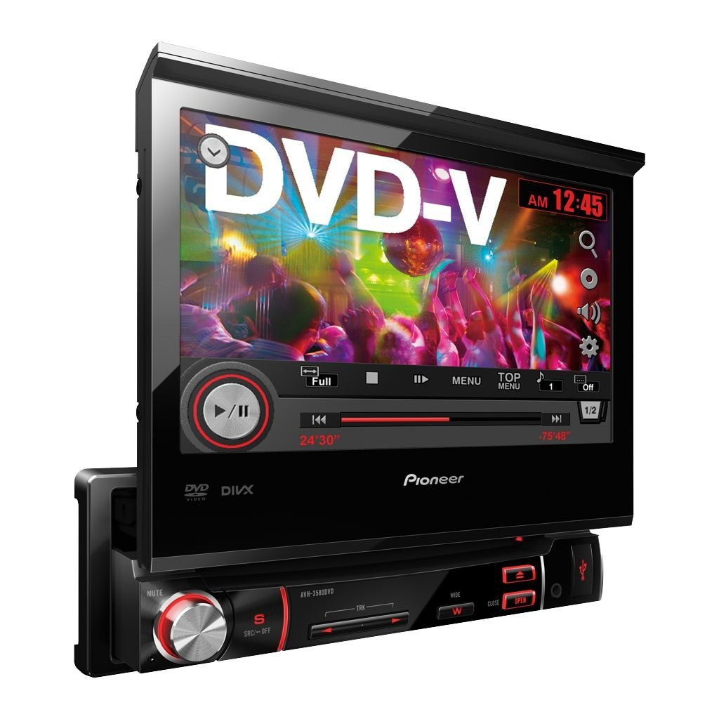 Dvd Player Autmotivo Pioneer AVH-3580DVD + Camera de Ré Retrátil 7 Polegadas Usb Touch Screen